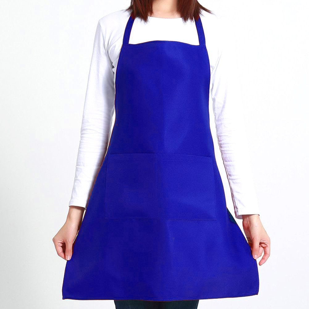 <font color='#FF0000'>NK Soild Color Apron Adults Women Men Party Cooking Apron Kitchen Supplies</font>