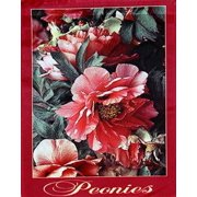 """Pink Peony Spring Garden Flag Decorative Floral Mini Banner 12.5"""" x 18"""""""