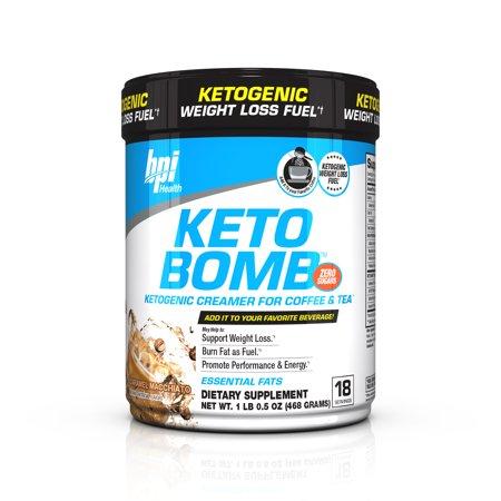 BPI Sports Health Keto Bomb Ketogenic Caramel Macchiato, 18