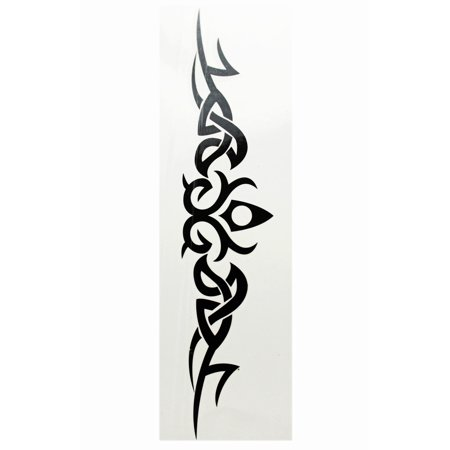 Regal Pointed Center w/Eminating Swirls Temporary Tribal Tattoo