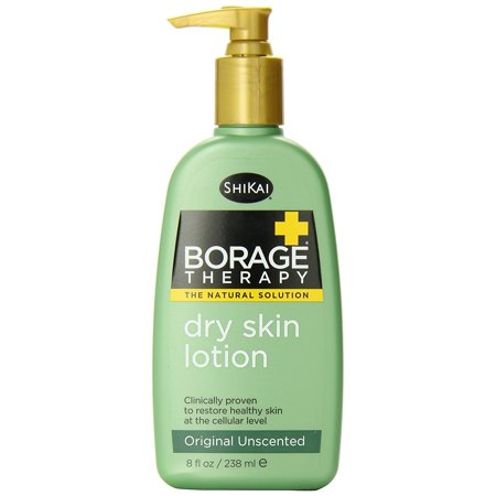 ShiKai Borage Therapy - Natural Dry Skin Lotion, Offers Real Relief from Dry, Red and Itchy Skin (Unscented, 8 (Lotion For Extremely Dry And Itchy Skin)