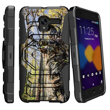 Alcatel Tru Case Alcatel Stellar Case [ Armor Reloaded ] Extreme Rugged Protection Case with Holster and Kickstand - Bow and Arrow Hunter thumbnail