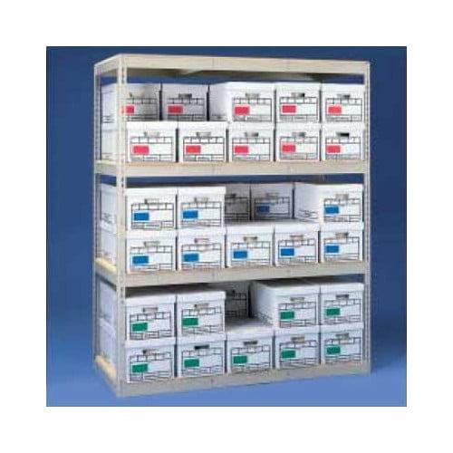 Tennsco Corp. Archive 4 Shelf Shelving Unit Starter