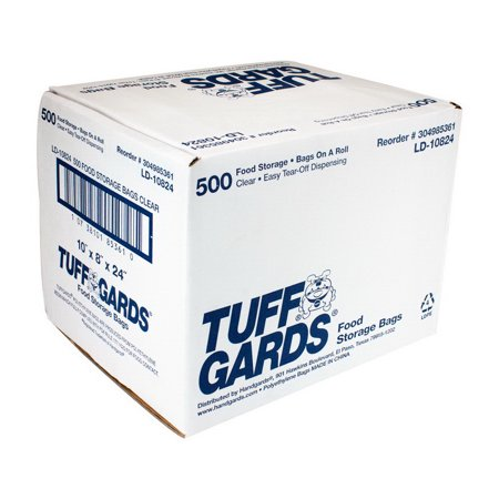 Handgards 304985361 Bag Low Density Poly Roll Pack 10X8X24 1.2Ml 1-500 Each
