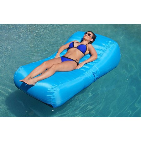 aquadolce pool lounger deluxe oversized pool float with durable turquoise nylon luxury living. Black Bedroom Furniture Sets. Home Design Ideas