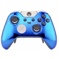 """Chrome Blue"" Xbox One ELITE Rapid Fire Modded Controller 40 Mods"