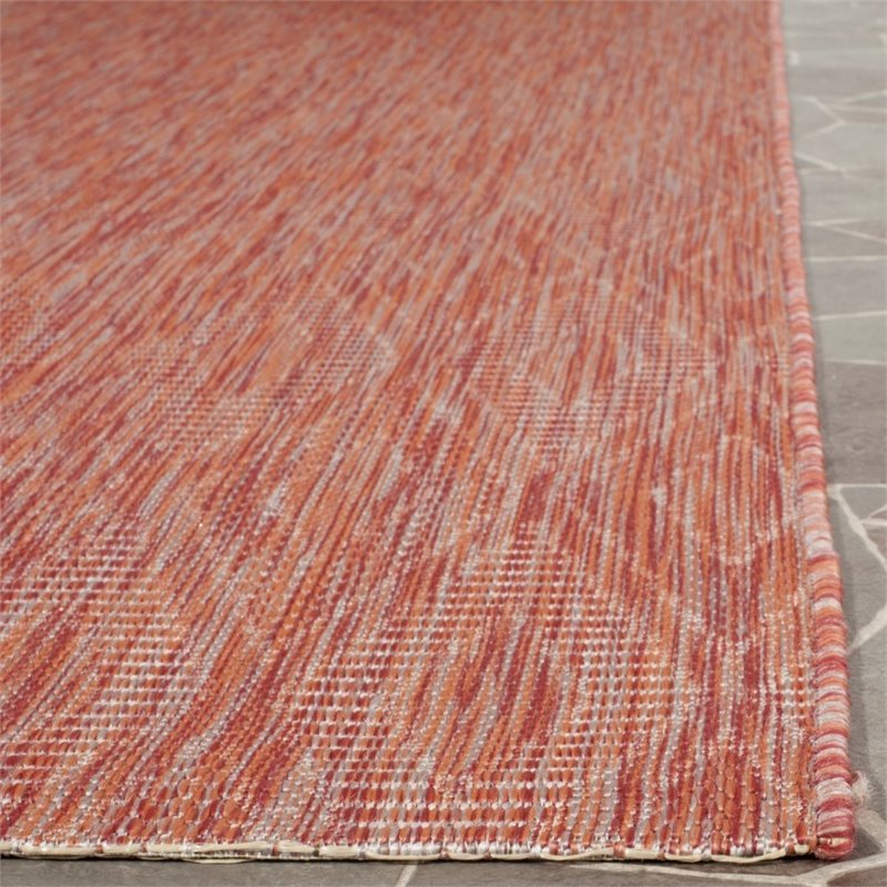 "Safavieh Courtyard 2'3"" X 8' Power Loomed Rug in Red and Red - image 6 of 8"