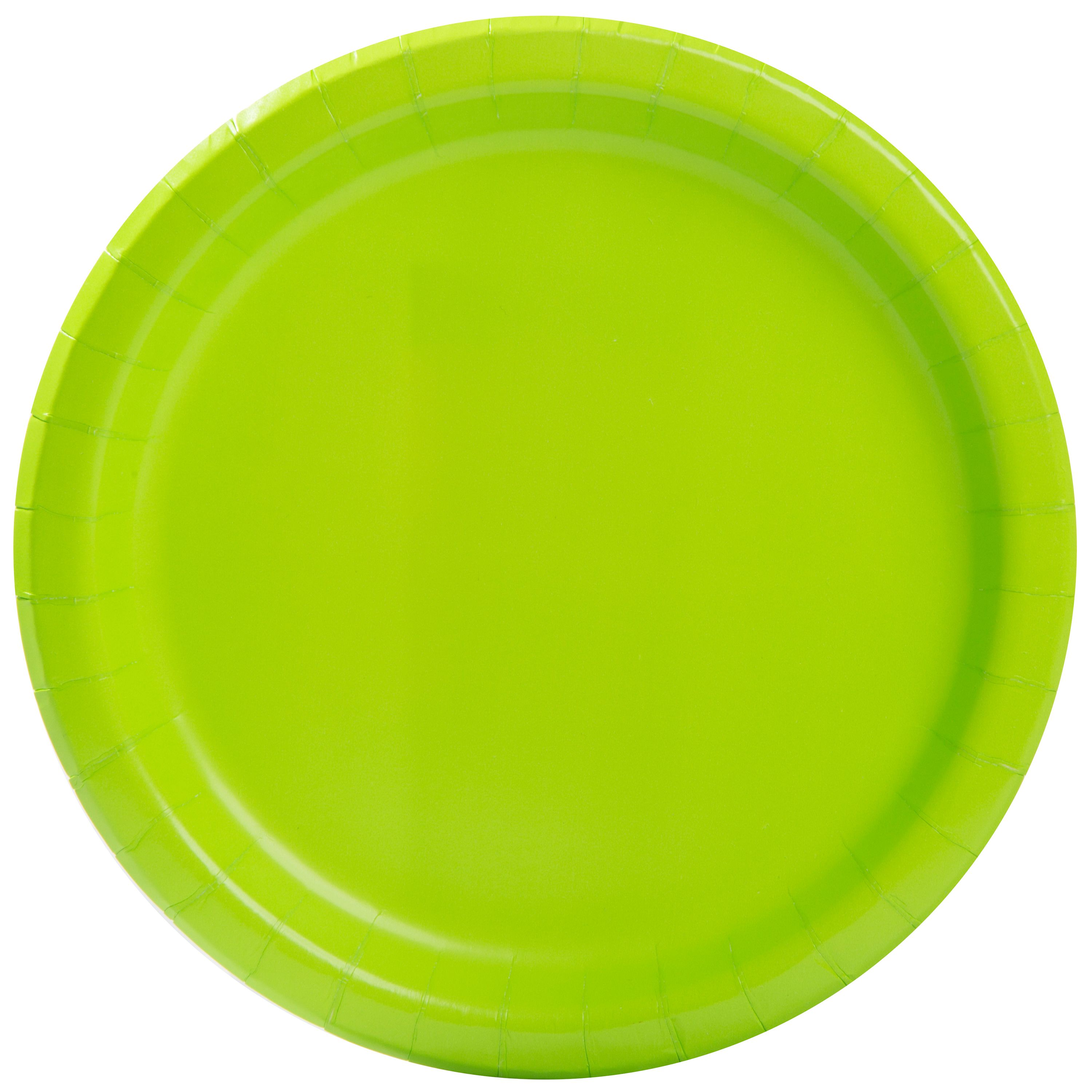 "9"" Neon Green Party Plates, 55ct"