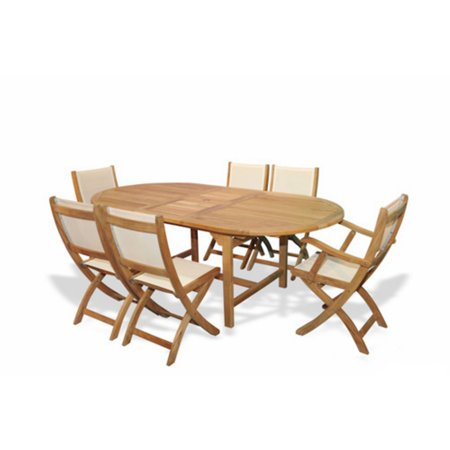 Regal Teak 7 Piece Teak Patio Dining Set - Walmart.com