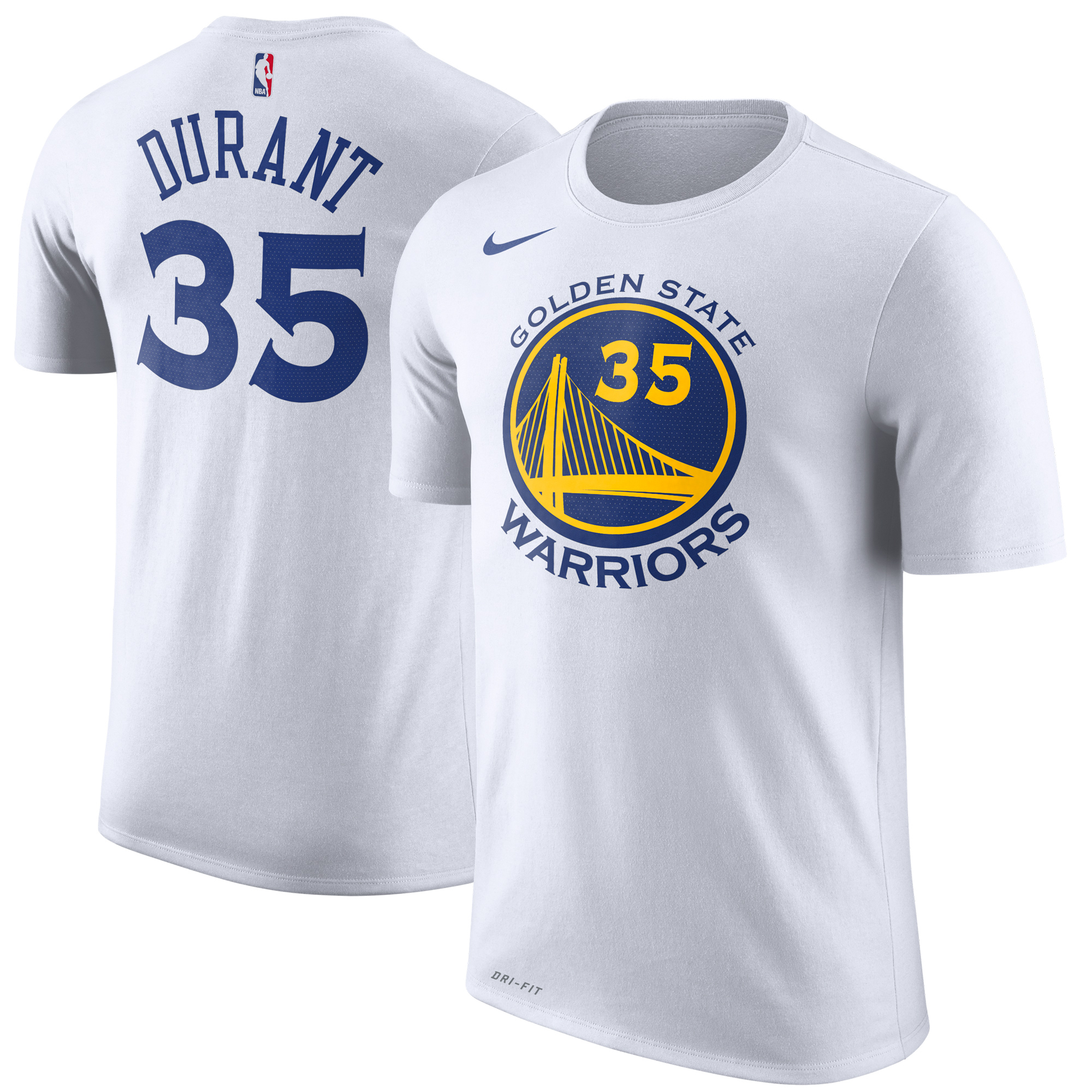 Kevin Durant Golden State Warriors Nike Name & Number Performance T-Shirt - White