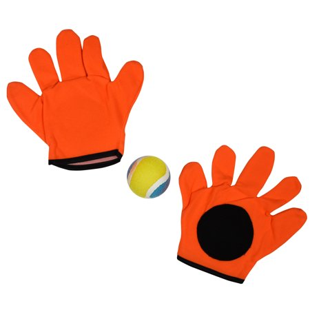 Go Play Sticky Target Dodgeball Game  Classic Toss & Catch Sports Playset for Kids Includes [2] High Quality Sticky Velcro Gloves & [1] Toy Tennis Ball  Teach Boys & Girls to Throw & Catch  Ages 3+ - Skylanders Boy And Girl Game
