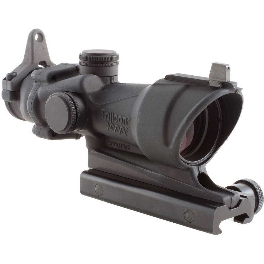 Trijicon ACOG Rifle Scope, 4X32 Yellow Center Reticle, Includes M4A1 Flattop Adapter, Matte by Trijicon