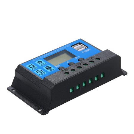 10A 12V / 24V Solar Charge Controller PWM Intelligent Regulator With USB 5V 2.5A