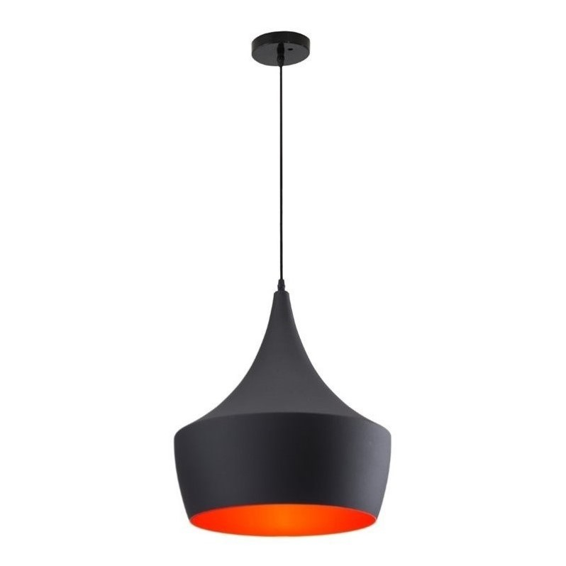 Zuo Copper Ceiling Lamp in Matte Black Finish