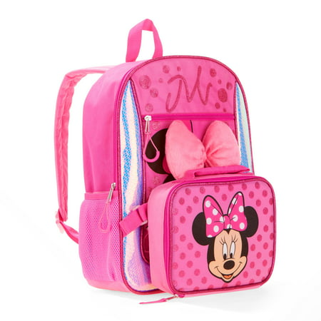 859d382e04b Disney - Minnie Mouse Backpack and Lunch Bag Set - Walmart.com