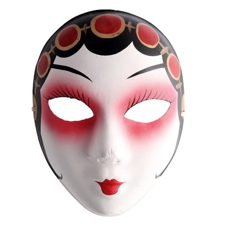 Halloween Pulp Hand Painted Facial Decoration Peking Opera Face Mask Multicolor - Painted Tiger Face For Halloween