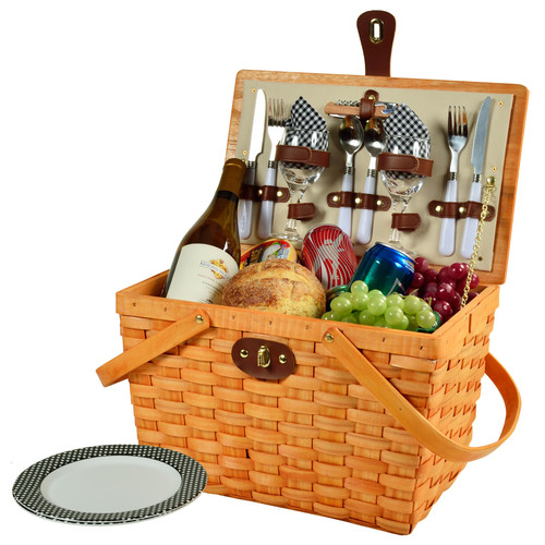 Frisco Traditional Picnic Basket for Two