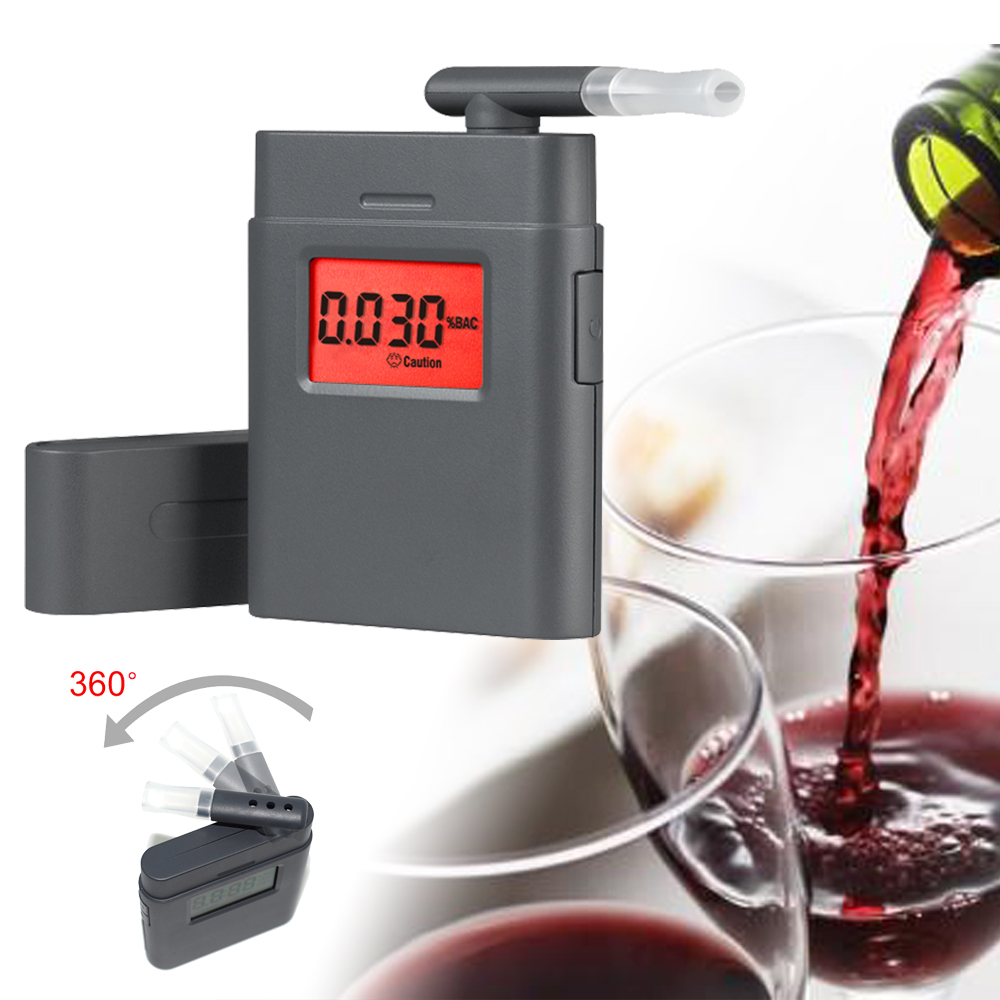 High Accuracy mini Alcohol Tester breathalyzer Driver Safety in Roadway Diagnostic Tool (Battery not included)