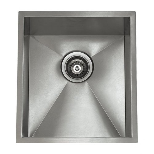 Lenova SS-0Ri-S4 Zero Radius Bowl Single Basin Kitchen Sink, Stainless Steel