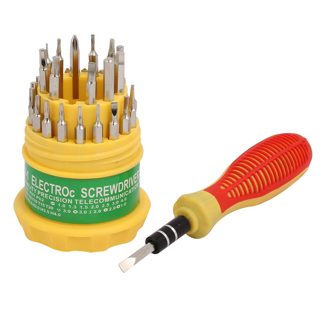 31 in 1 Nonslip Handle Hex Torx Slotted Tri-wing Magnetic Screwdrivers Bits Set