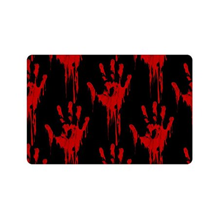 MKHERT Funny Bloody Hands Horror Halloween Theme Doormat Rug Home Decor Floor Mat Bath Mat 23.6x15.7 inch - Floor 5 Halloween 100 Floors