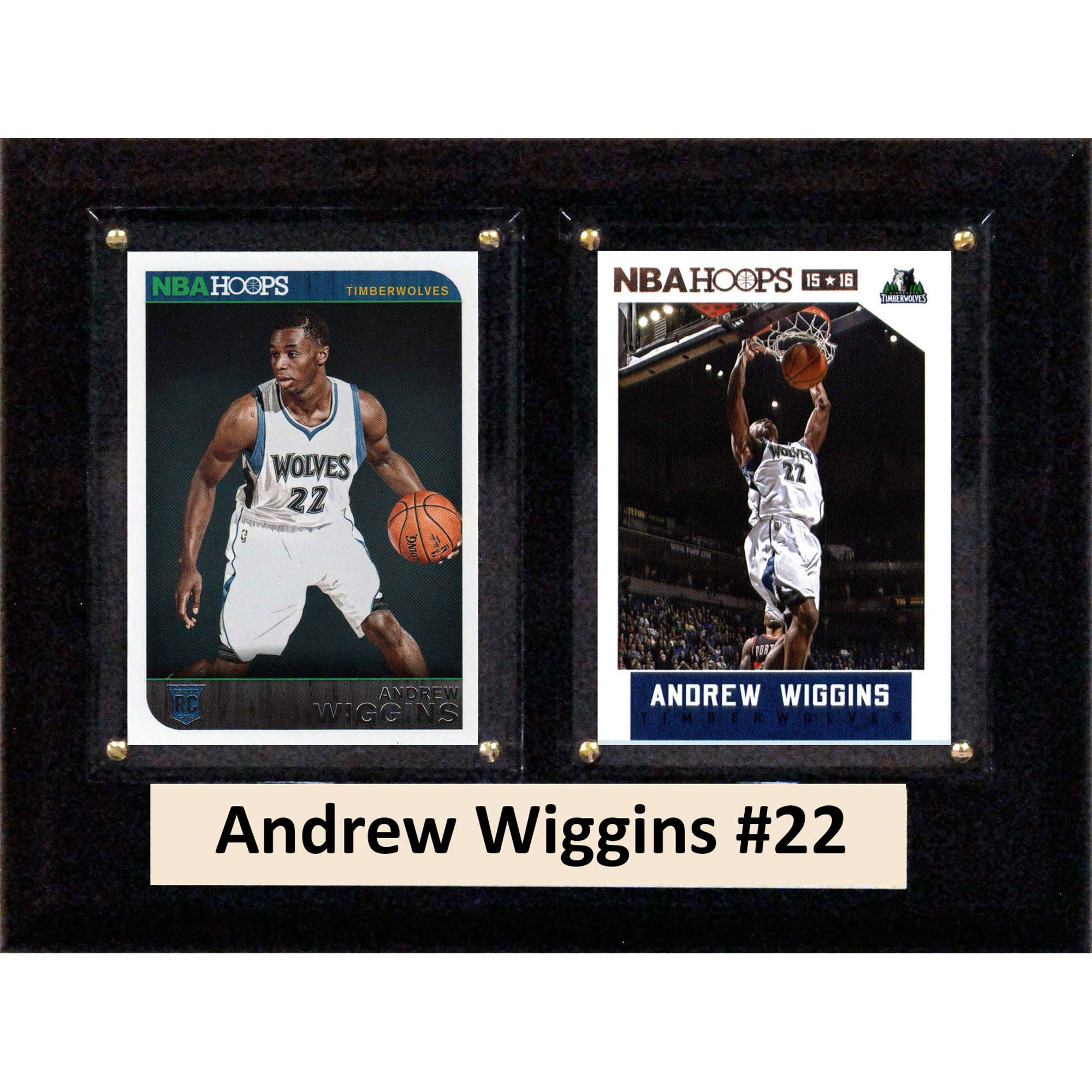 C&I Collectables NBA 6x8 Andrew Wiggins Minnesota Timberwolves 2-Card Plaque