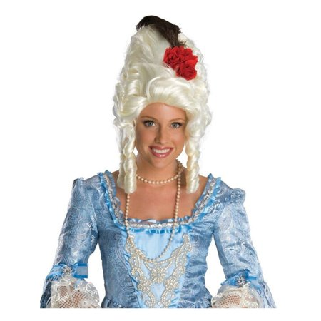Halloween Marie Antoinette Wig with Rose