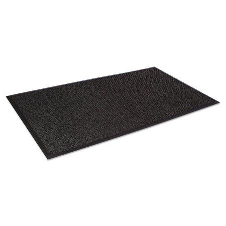 Crown Super-Soaker Wiper Mat w/Gripper Bottom, Polypropylene, 45 x 68, Charcoal