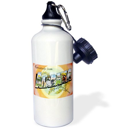 3dRose Greetings From Alabama With Scenes of the State inside Bold Lettering, Sports Water Bottle, - Sports Scene Store