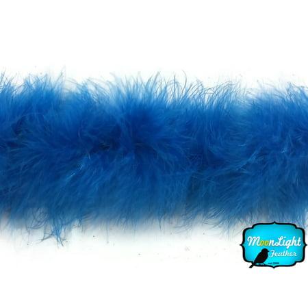 Blue Feather Boas (2 Yards - Blue Marabou Feather Boa 25)