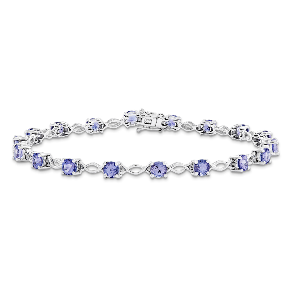 14k White Gold Tanzanite Bracelet Y11971TZ A by