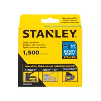 "STANLEY 1/4"" Heavy Duty Staples, 1,500ct 