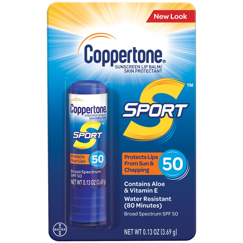 Coppertone Sport Sunscreen Lip Broad Spectrum SPF 50, .13 oz