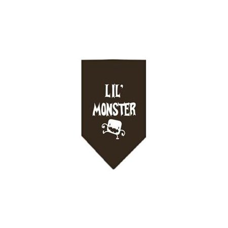Lil Monster Screen Print Bandana Cocoa Large - Paws Down Lil Monsters
