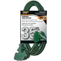 PowerZone Sjtw Triple Tap Extension Cord, 16/3, 35 Ft