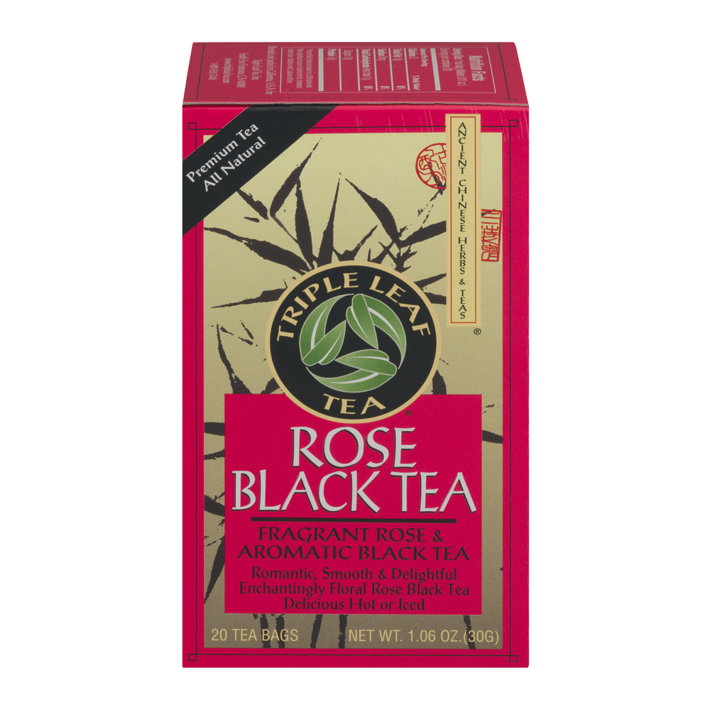 Triple Leaf Tea Rose Black Tea - 20 CT
