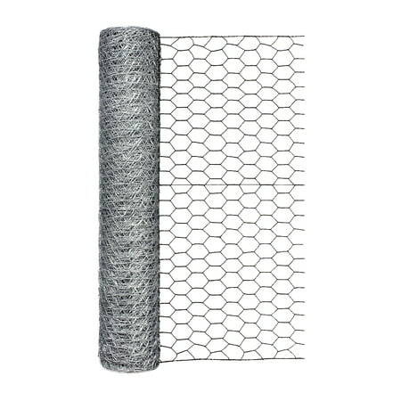 24in H x 50ft L Poultry Netting with 1in Mesh