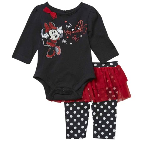 Polka Dot Ruffle Legging - Infant Toddler Girls Minnie Mouse & Tulle Outfit Ruffle Polka Dot Legging Outfit