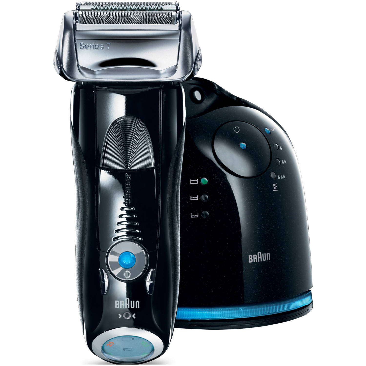 Braun Series 7 760cc-4, GIFT PACK (Electric Foil Shaver with Clean&Charge Station + Bonus Mobile Shaver and 2 Clean & Charge Refills)