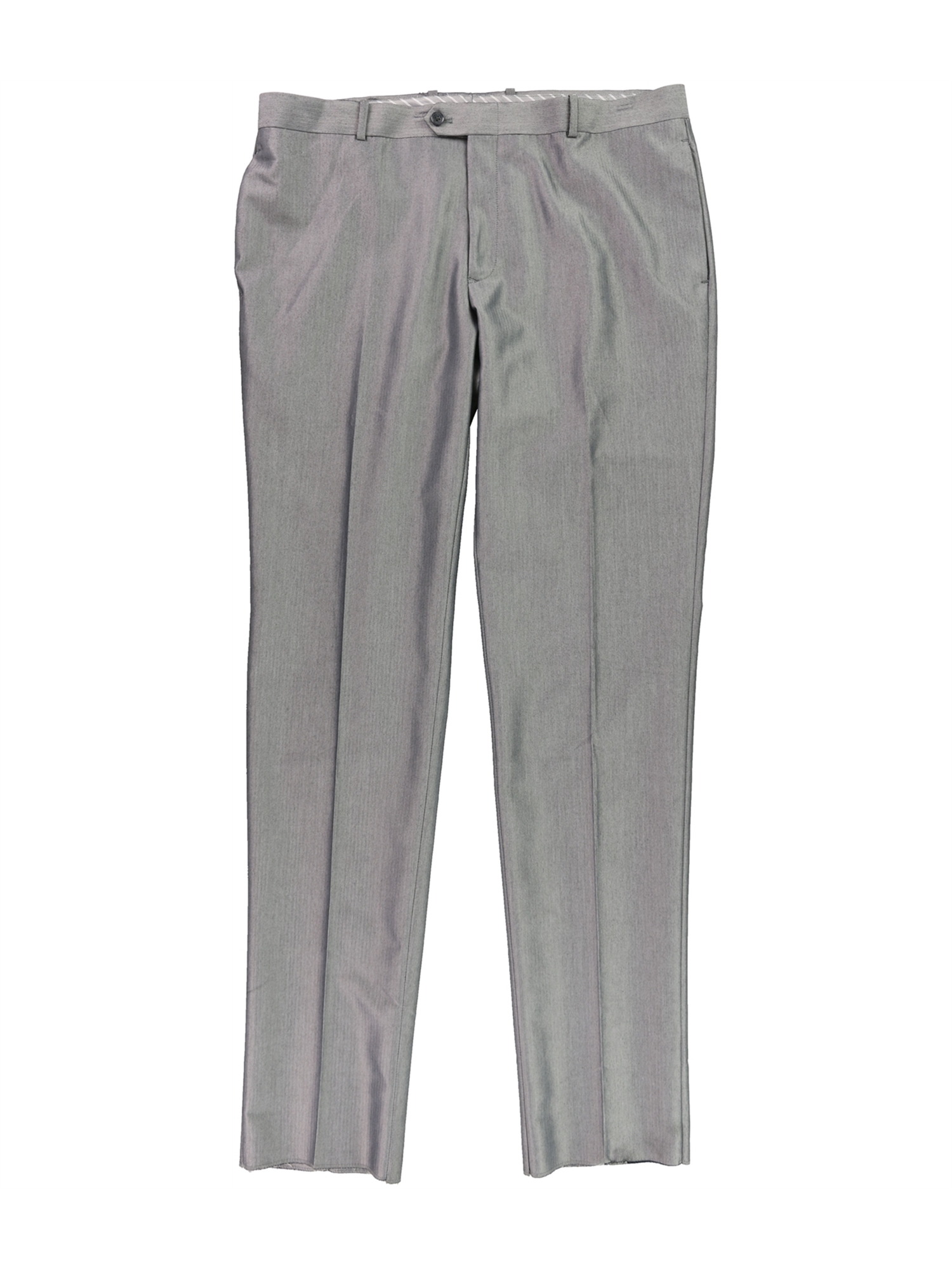 bar III Mens Slim Fit heather Dress Slacks lightgrey 39/Unfinished