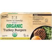 Farm to Family Butterball Lean Organic Turkey Burgers 6 ct Box