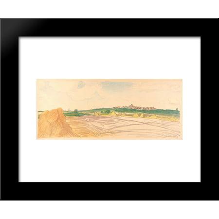 Color litho landscape 20x24 Framed Art Print by Theophile Steinlen