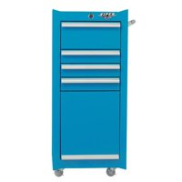 Viper Tool Storage 16-Inch 4-Drawer Rolling Tool/ Salon Cart with Bulk Storage, Teal