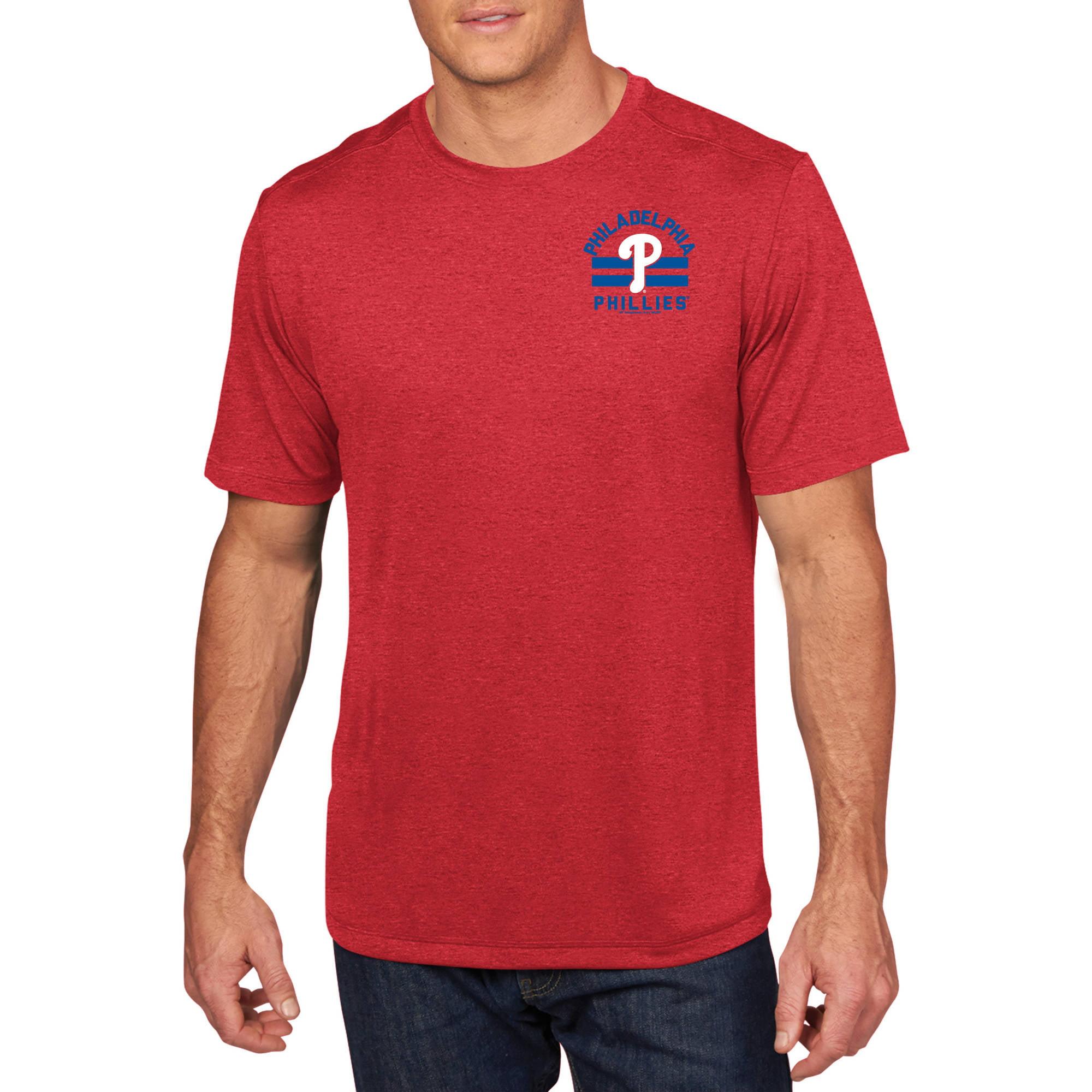 MLB - Big Mens Philadelphia Phillies Short Sleeve Synthetic Team Tee