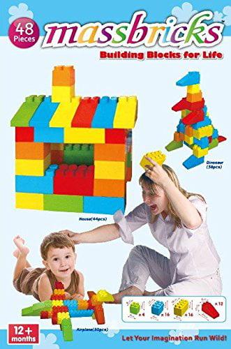 Massbricks Building Blocks For Life, 48 Pieces by Massbricks