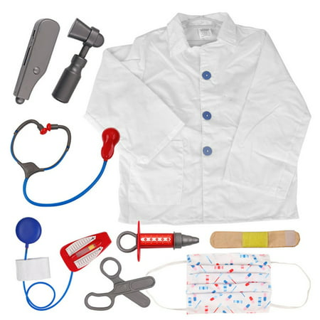 TopTie Doctor Nurse Role Play Set Dress Up Surgeon Costumes Set For Kids Great Gift Idea-Doctor-S