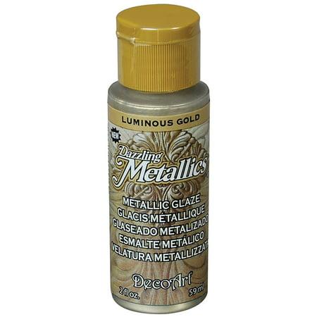 Dazzling Metallic Glaze Acrylic Paint 2oz-Luminous Gold