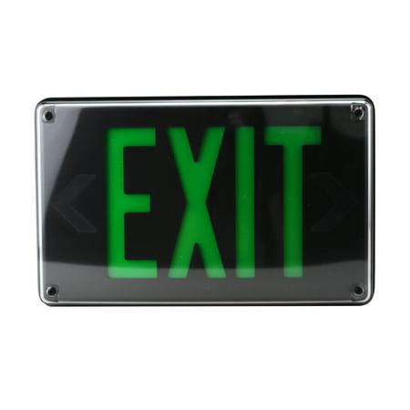 Lithonia Lighting Lv-S-1-G-120/277-Um-4X Exit Sign Emergency Led Lighting, Black Faceplate
