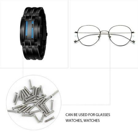 1000pcs tiny assortment for clock watch eye glasses screws repair kit tool. Black Bedroom Furniture Sets. Home Design Ideas
