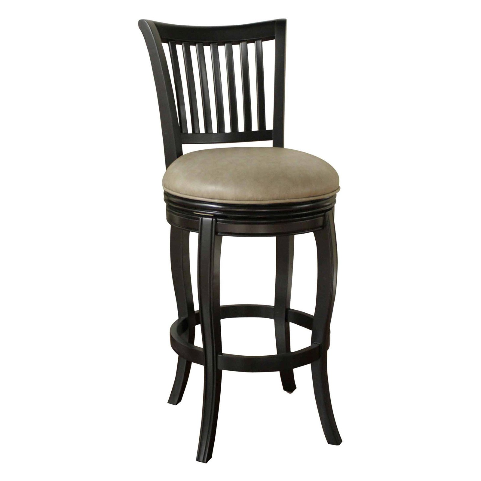 Ahb 34 In Maxwell Swivel Tall Bar Stool Black With Mushroom